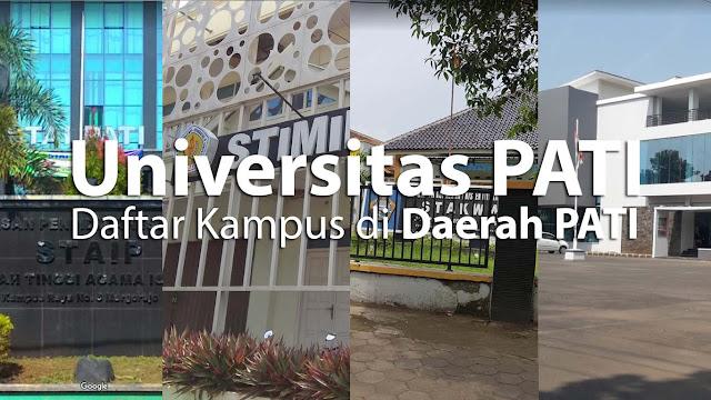 Sebuah referensi mengenai daftar universitas di lokasi Pati, Jawa Tengah