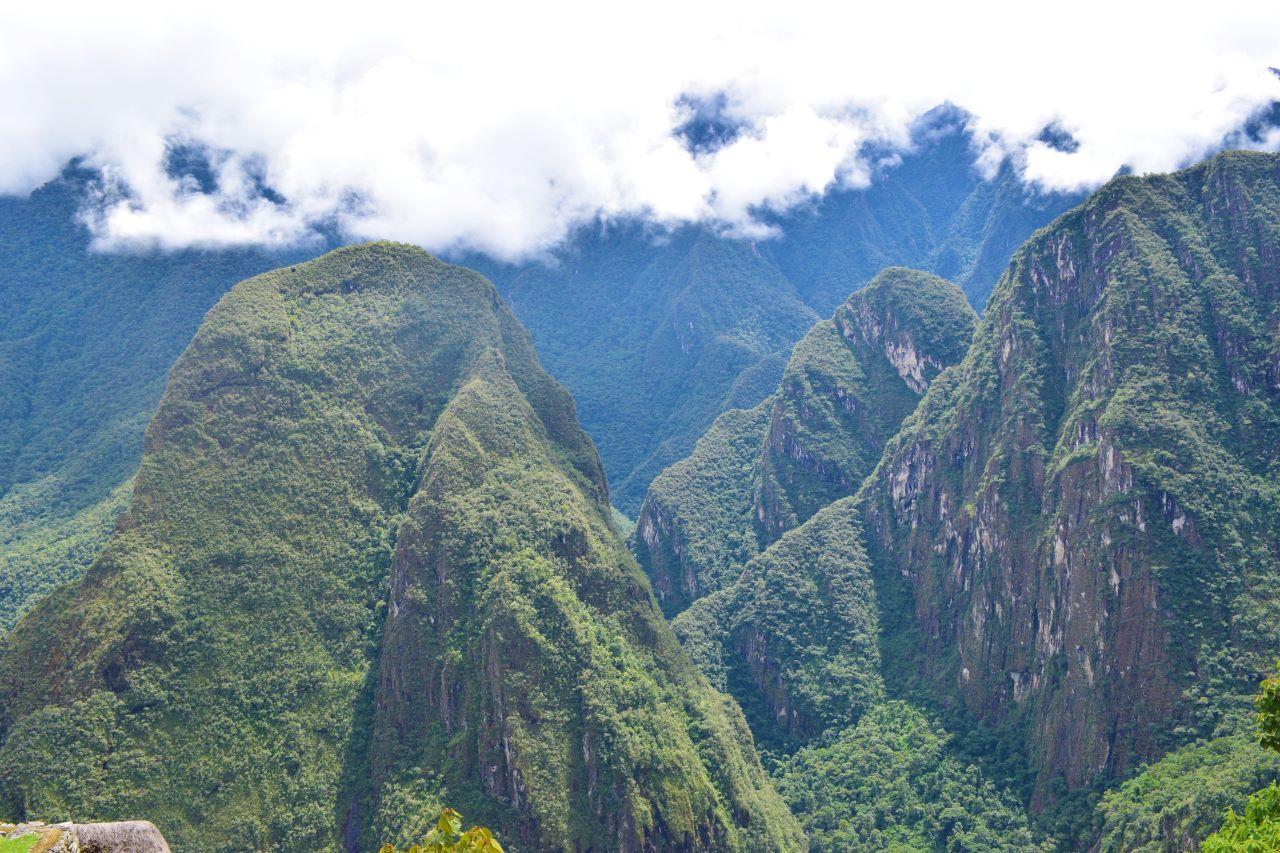 vista da montanha hyuna picchu peru