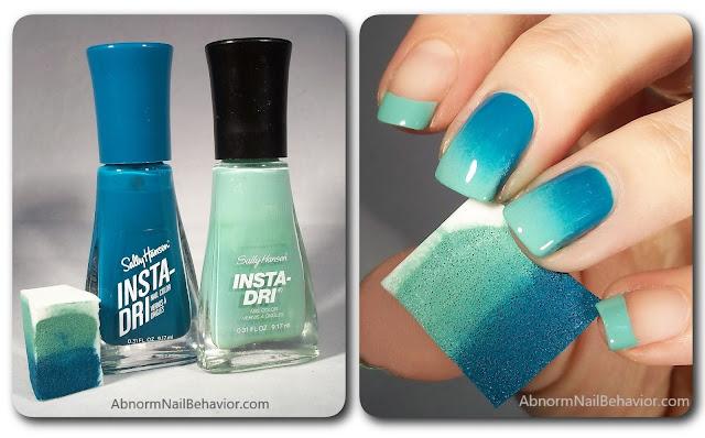 green ombre nail art