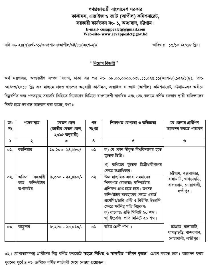 Bangladesh Customs House job