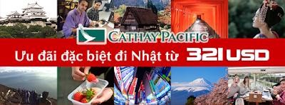 Ưu đãi đi Nhật Bản của Cathay Pacific