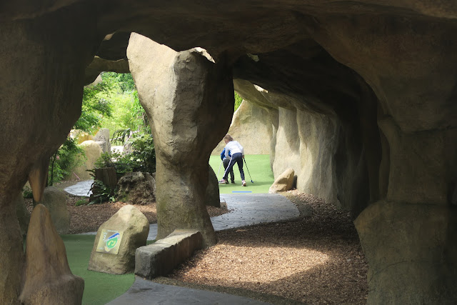 Stalactite style mini golf cave Mighty Claws Bournemouth