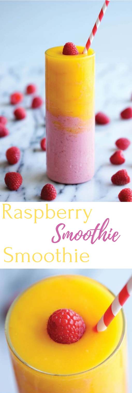 RASPBERRY SUNRISE SMOOTHIE #smoothie #raspberry