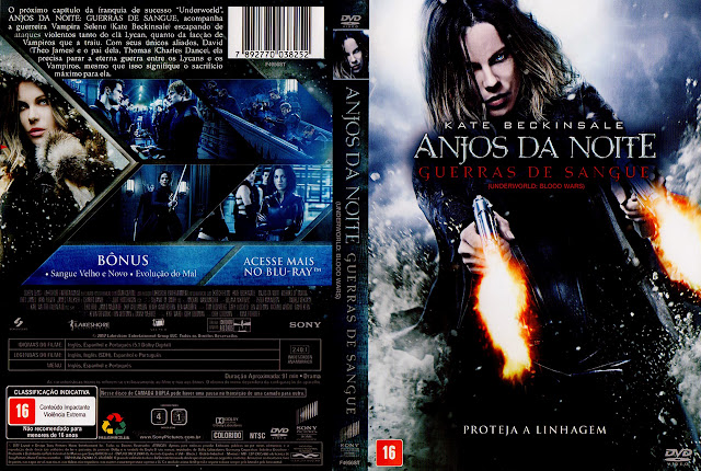 Capa DVD Anjos da Noite Guerras de Sangue (Oficial)