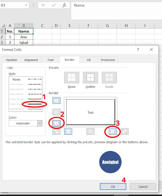 Menghilangkan Garis Di Excel : menghilangkan, garis, excel, Membuat, Garis, Excel, (Garis, Kolom, Baris), AneIqbal