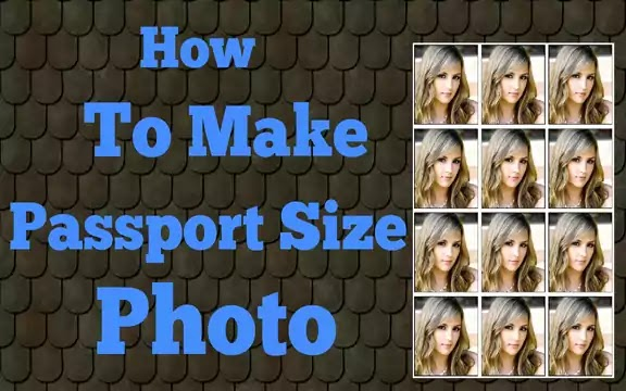 How to make passport size photo in photoshop in hindi