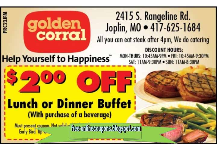photograph regarding Coupon for Golden Corral Buffet Printable called Goldencorral discount coupons / Calvin klein coupon codes in just keep