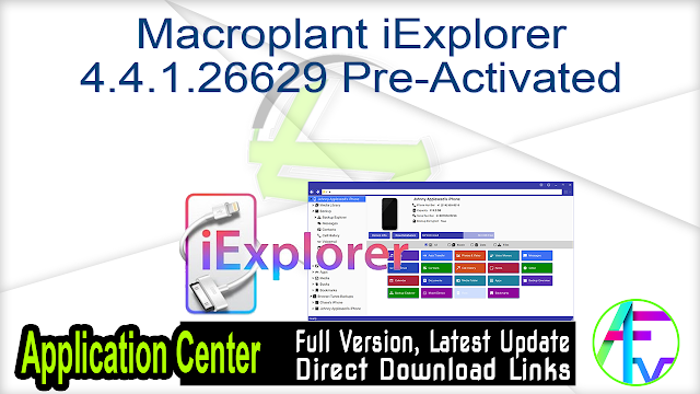Macroplant iExplorer 4.4.1.26629 Pre-Activated