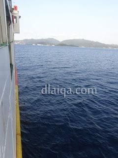 pemandangan dari atas kapal ferry