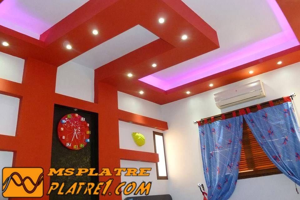 faux plafond platre chambre coucher ms timicha d coration pl tre plafond. Black Bedroom Furniture Sets. Home Design Ideas