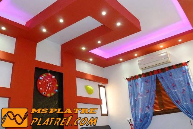 Faux plafond platre chambre coucher ms timicha for Plafond en platre chambre a coucher