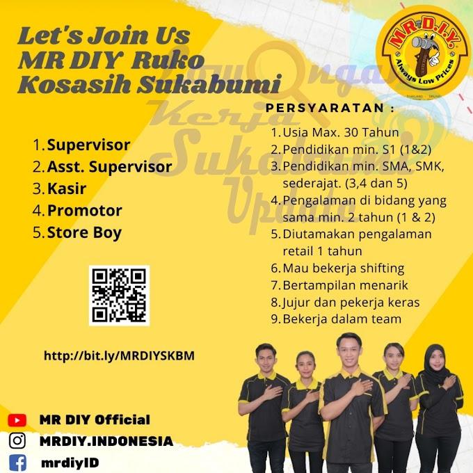 Lowongan Kerja MR DIY Sukabumi