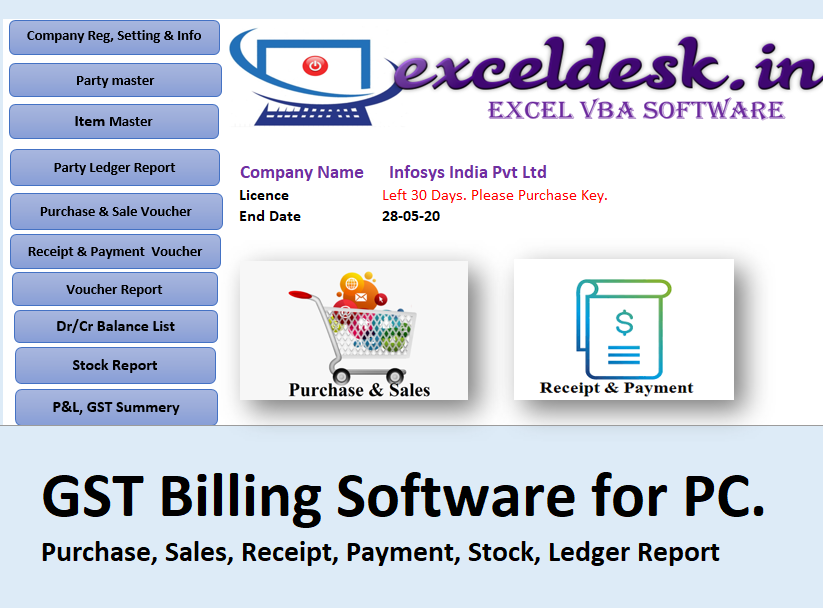 GST Billing Software for PC