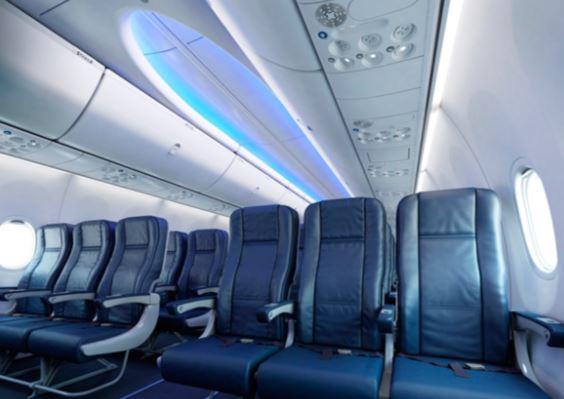 Boeing 737 MAX 7 cabin interior