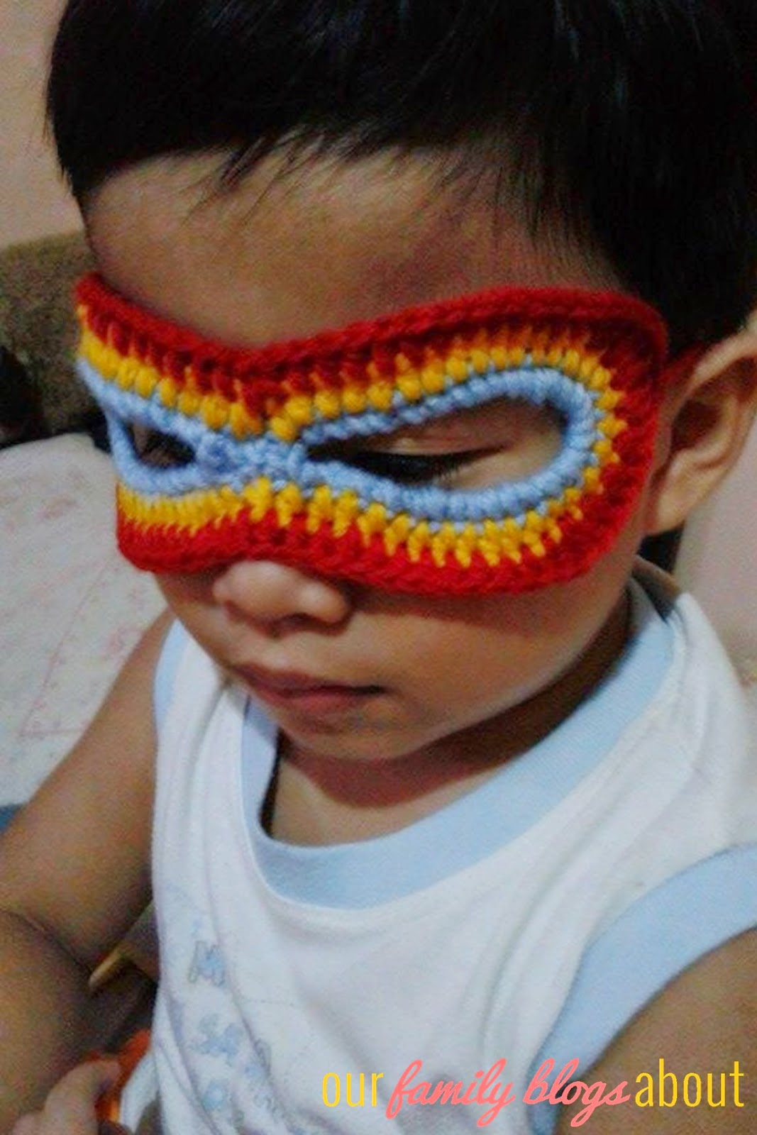 crochet mask, do it yourself, free crochet pattern, Iron Man mask. crochet Iron Man mask,