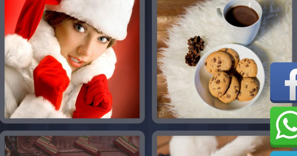 4 Fotos 1 Palabra Gato Navidad Mujer Cafe Bebe Enigma Diario