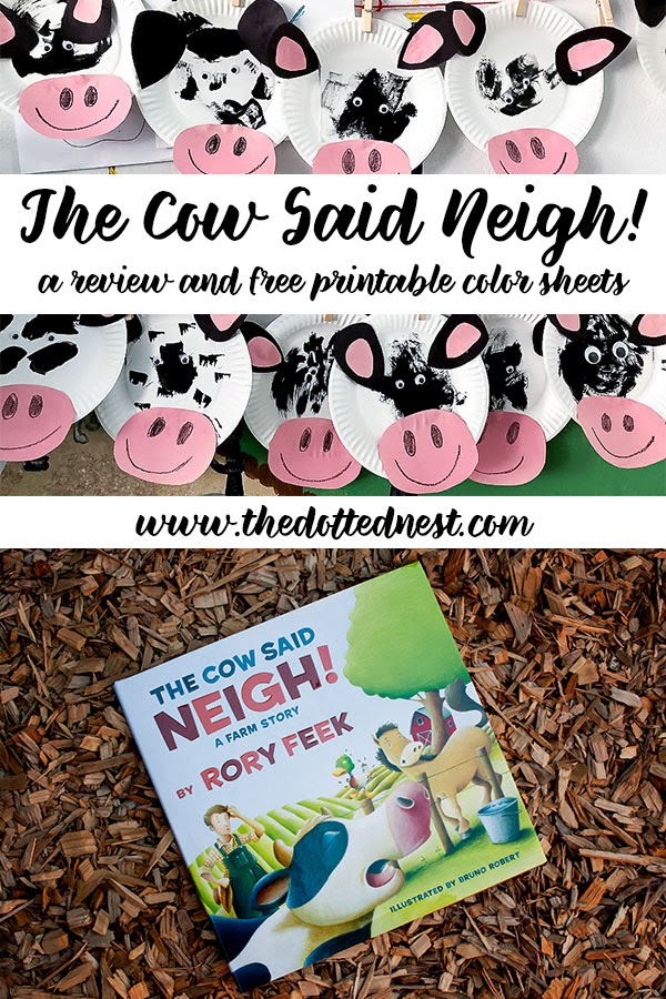 The Cow Said Neigh! A Review and Free Printable Color Sheets