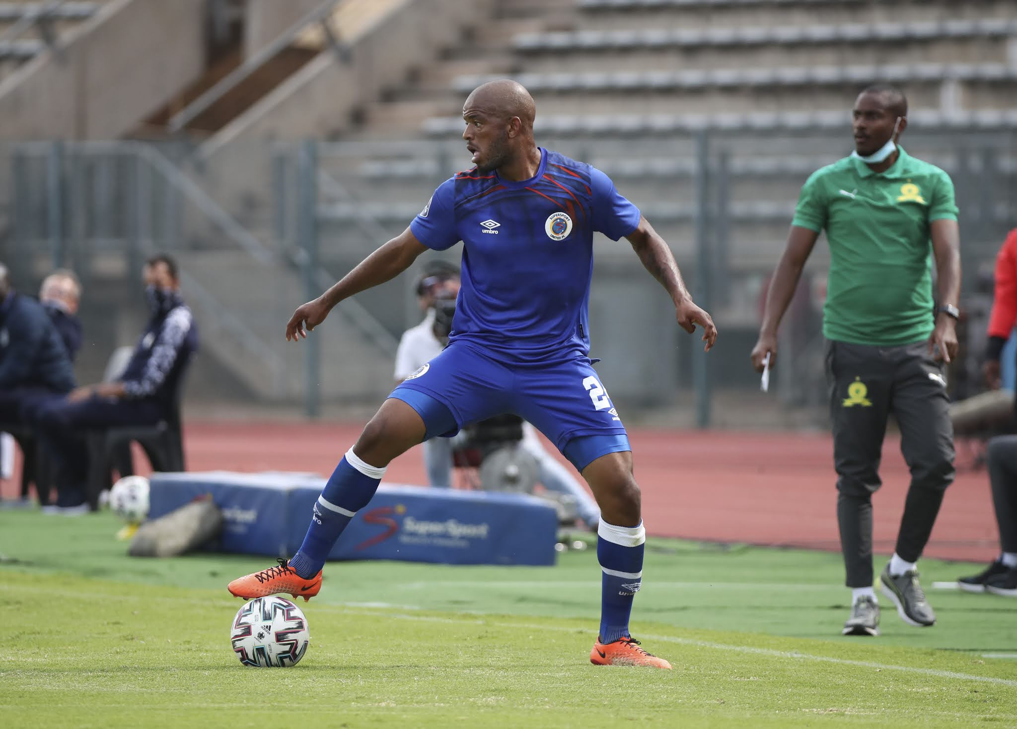 SuperSport United midfielder Sipho Mbule
