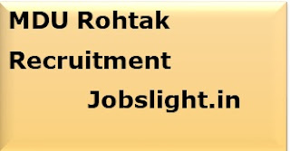 MDU Rohtak Recruitment