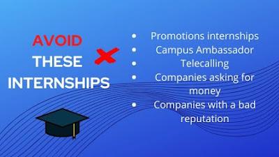 5 Types of internships to Avoid : Never do them!