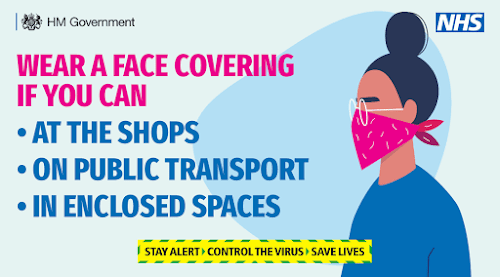 Face coverings UK Government wear one if you can