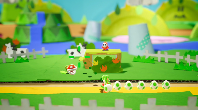 Yoshi 2018 cows cardboard background beginning level
