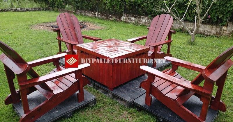 Sillas adirondack y mesa para el jard n - Como hacer sillas con palets ...