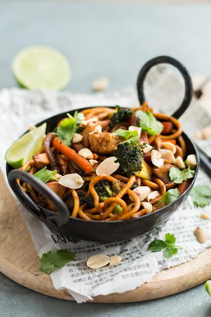 Wok de poulet et légumes d'hiver