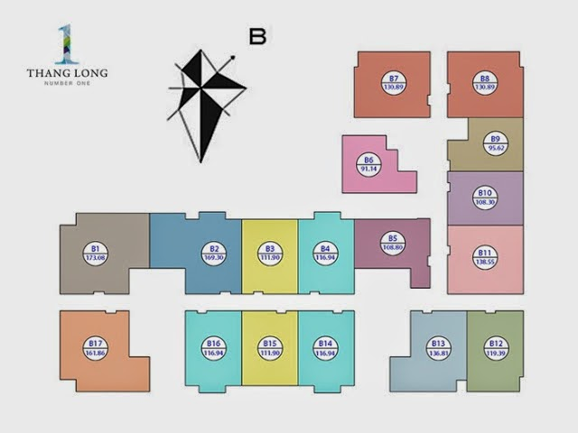 Diện tích các căn tòa B