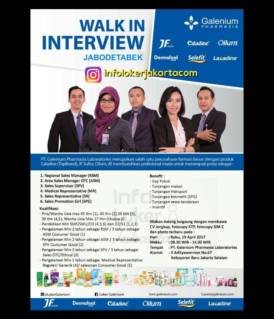 Lowongan Kerja PT. Galenium Pharmasia April 2017