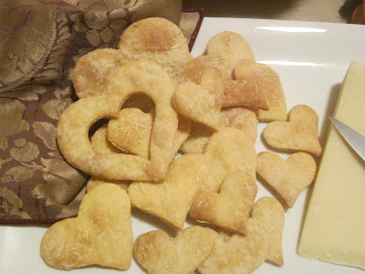 Savory Valentine's Heart Crackers