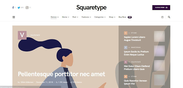 Theme SequareType Wordpress (100% Original)