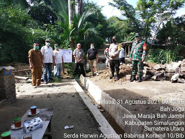 Dengan Bina Kewilayahan, Personel Jajaran Kodim 0207/Simalungun Dampingi Trial Pembangunan Jembatan Desa