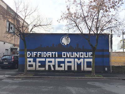 Atalanta fan mural: banned everywhere.