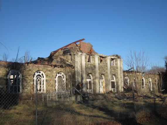 Salah satu bangunan di Letchworth Village