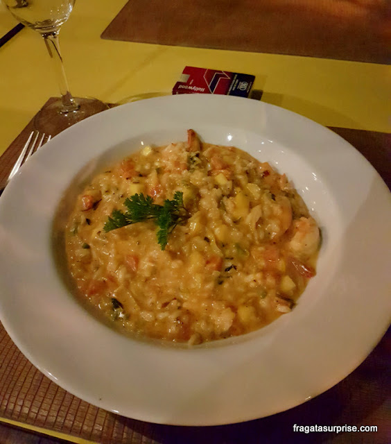 Risoto de camarão com manga, Restaurante Lafayette, Bahia Marina