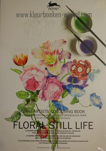 kleurboeken voor volwassenen, kleurboek GK 06 floral still life boek