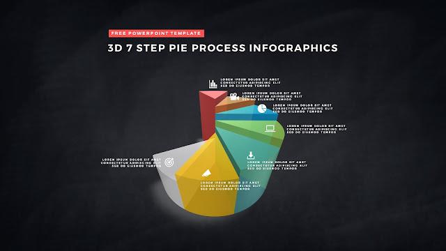 3D Pie Chart Design Elements for PowerPoint Templates Slide 11