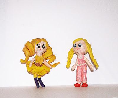 пластилин, лепка, девочка Флориетта приглашает на пижамную вечеринку феечку Свету
