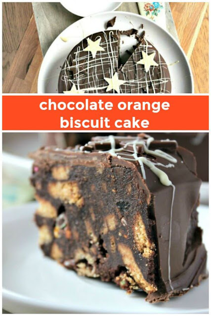 Chocolate Orange Biscuit Cake - an alternative Christmas cake