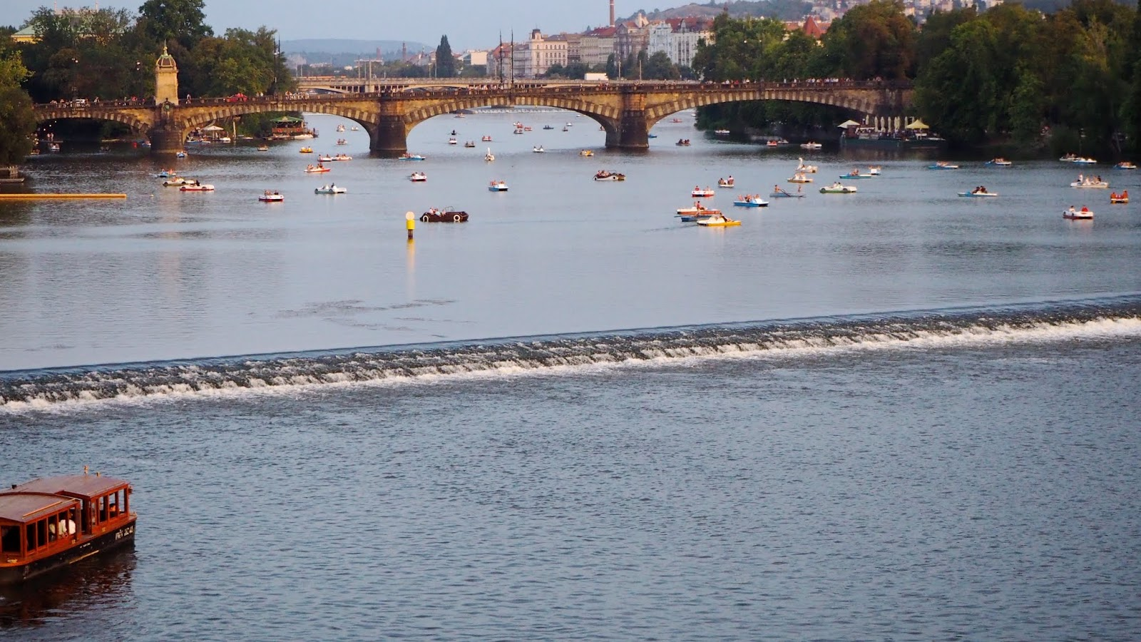 Paddle Boats on the Vltava River