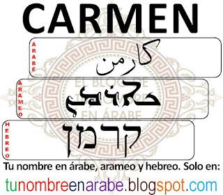Carmen en hebreo para tatuajes