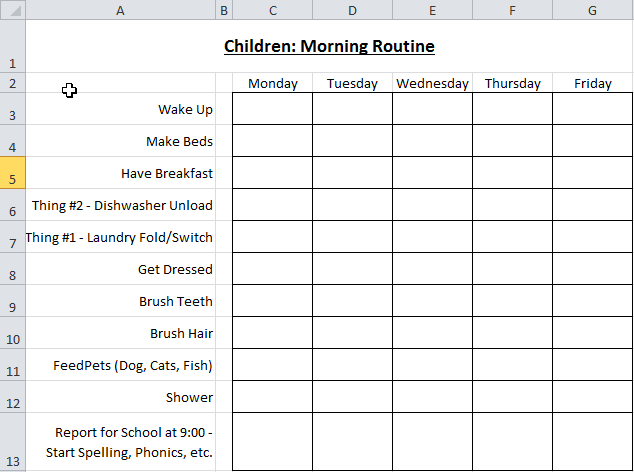 Homestead catholic the homeschool morning checklist for Homeschool checklist template