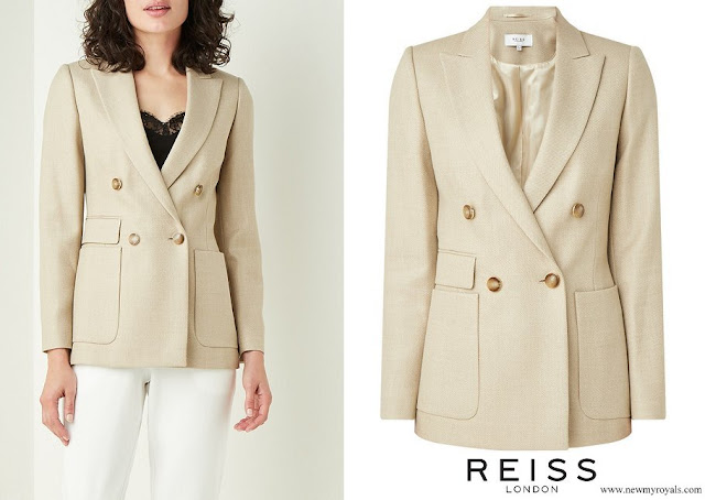The Duchess of Cambridge wore Reiss Larsson double-breasted blazer