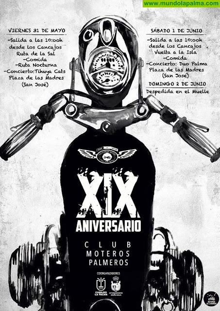 """BREÑA BAJA: XIX Aniversario del Club """"Moteros Palmeros"""""""