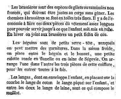 Dictionnaire des ménages layette