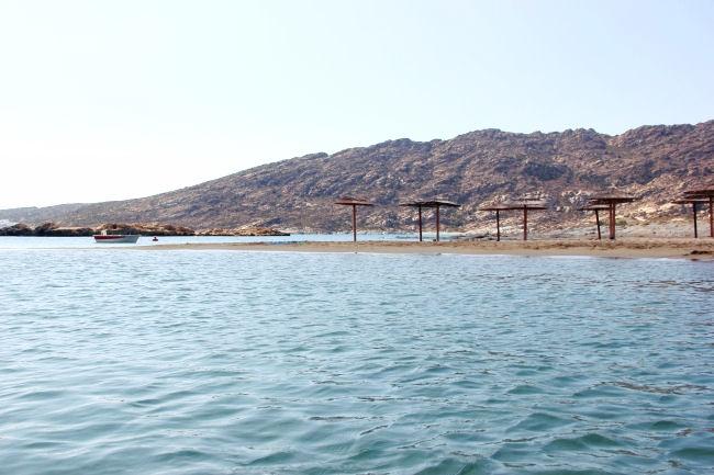 Manganari beach in off-season