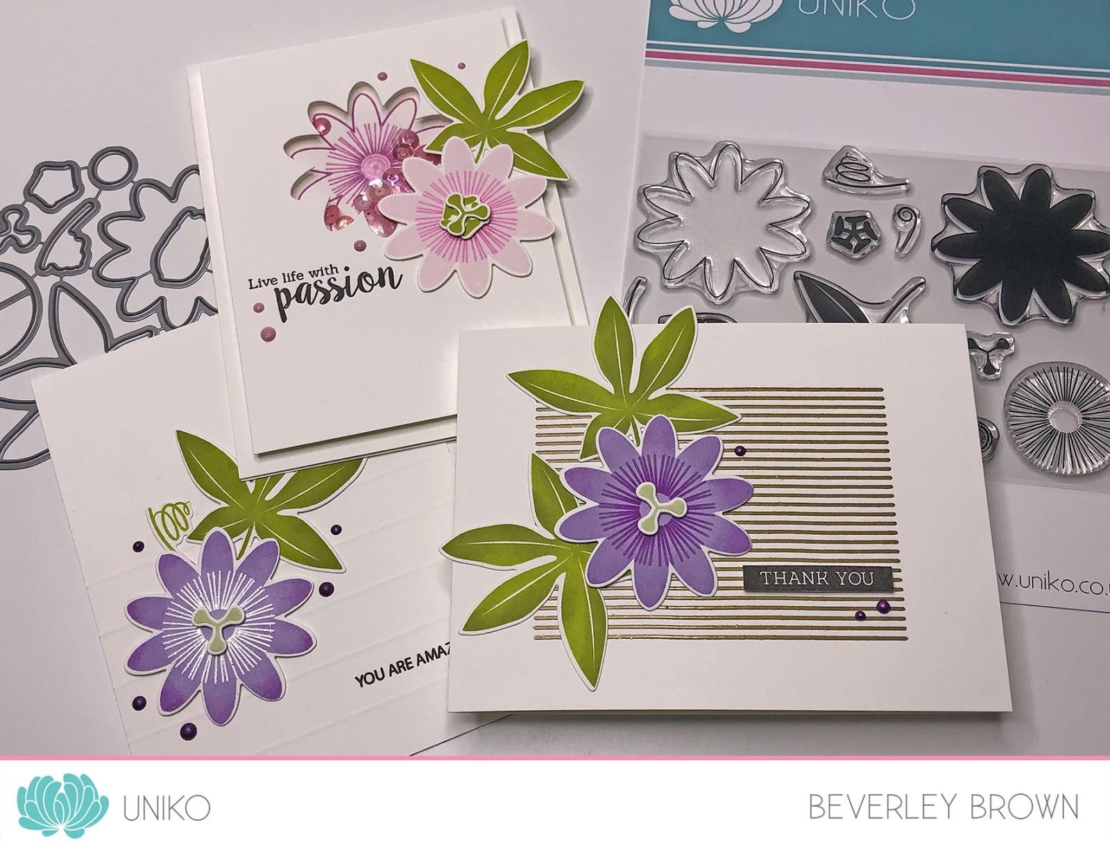 Uniko Studio Introducing Passiflora Designer Dies