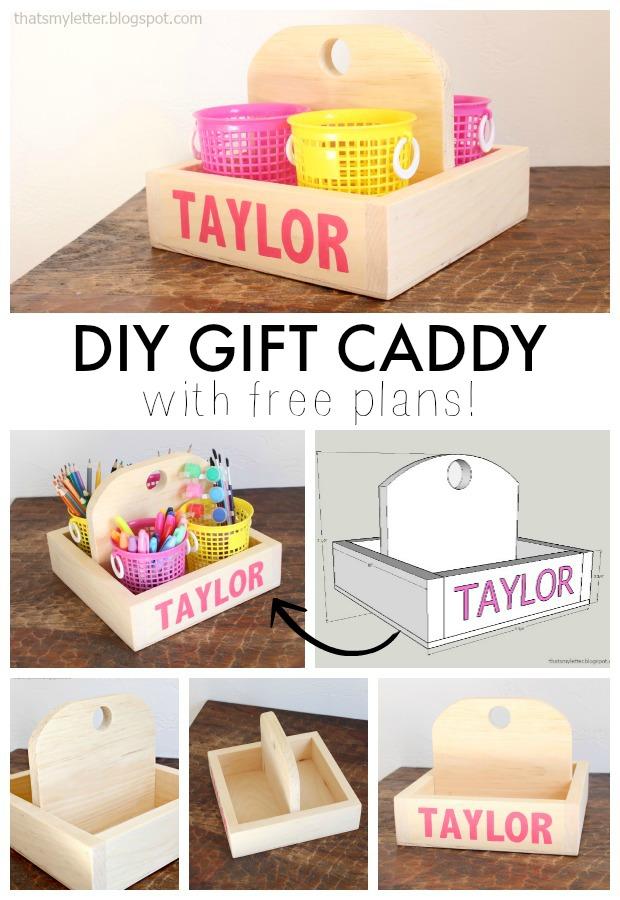 diy gift caddy free plans