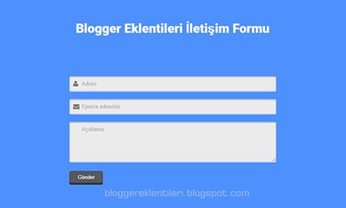Blog Javascript İletişim Sayfası